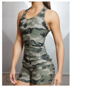 sexy camouflage fitness suit